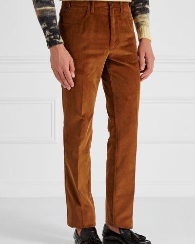 Прямые брюки с карманами вельветовые Prada
