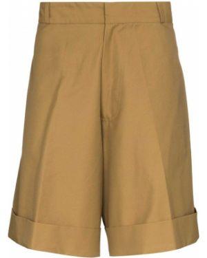 Коричневые шорты с карманами с отворотом с воротником Lou Dalton