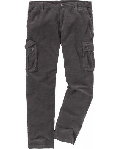 Серые брюки карго с карманами для беременных Bonprix