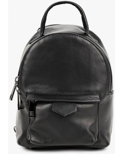 Городской черный рюкзак из натуральной кожи Roberta Rossi