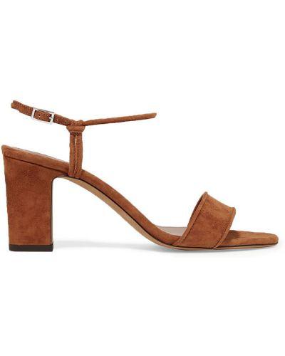 Sandały skorzane na obcasie klamry Tabitha Simmons