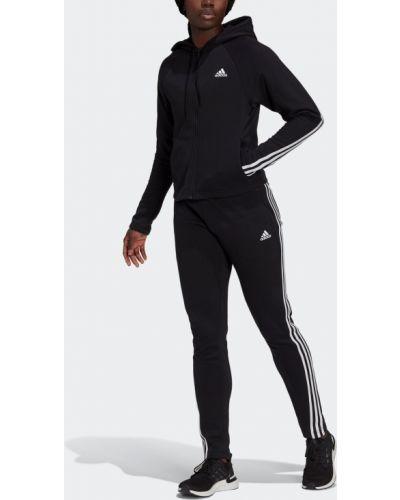 Флисовый спортивный костюм - белый Adidas