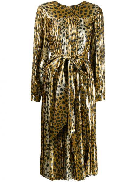 Шелковое платье миди - желтое Marc Jacobs