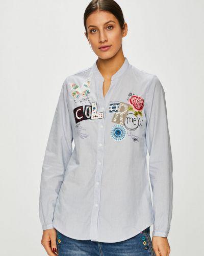 Блузка с длинным рукавом на пуговицах с вырезом Desigual