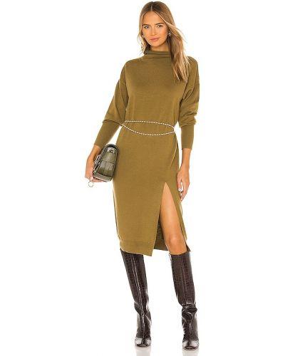 Шерстяное зеленое платье винтажное Line & Dot
