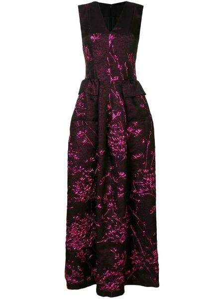Черное шелковое платье Talbot Runhof