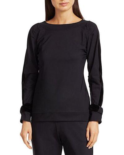 Бархатный черный топ с длинными рукавами Chiara Boni La Petite Robe