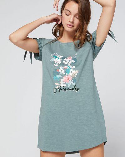 Пижама с рубашкой зеленый Etam