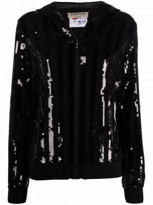 Черная куртка с капюшоном классическая с длинными рукавами A.n.g.e.l.o. Vintage Cult