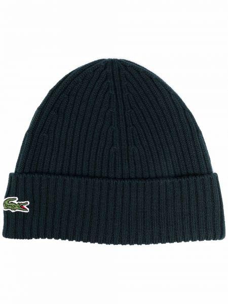 Шерстяная шапка бини - зеленая Lacoste