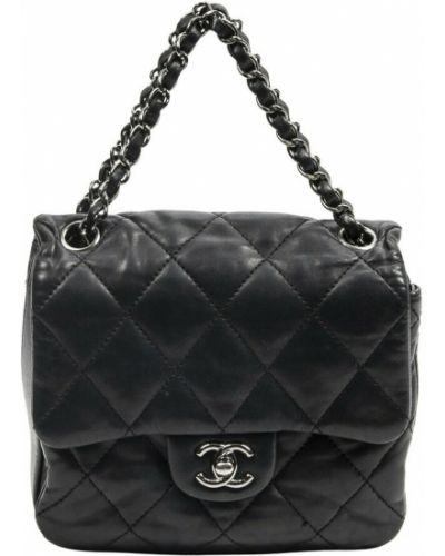 Czarne klapki Chanel Vintage