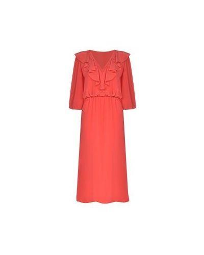 Красное коктейльное платье Luisa Spagnoli