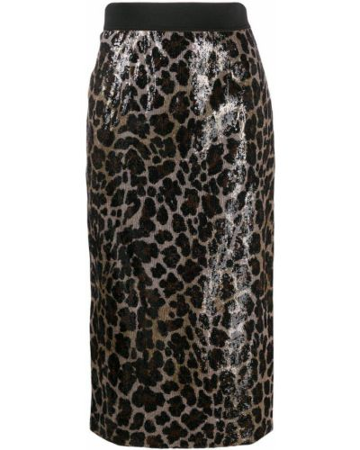 Юбка карандаш с завышенной талией с пайетками Antonio Marras