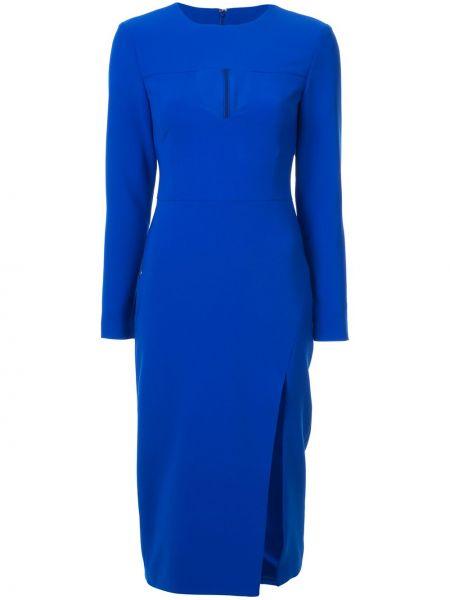 Niebieska sukienka midi Christian Siriano
