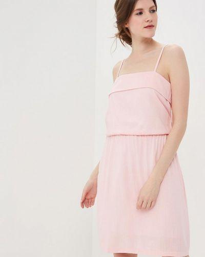 Платье розовое с открытыми плечами Sk-house