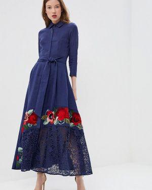 Повседневное платье синее Yukostyle