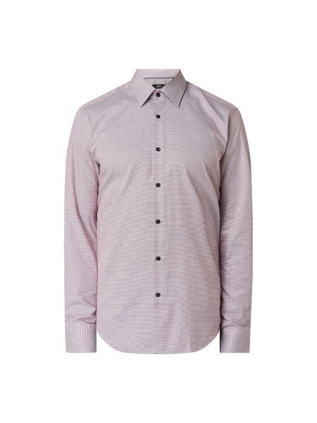 Bawełna bawełna koszula z mankietami z długimi rękawami Boss