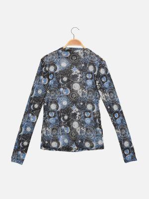 Bluzka tiulowa - granatowa Trendyol
