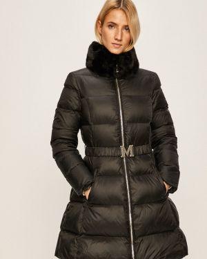 Прямая черная куртка с поясом Marciano Guess