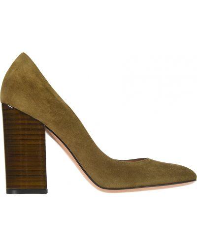 Кожаные туфли - зеленые Gianvito Rossi