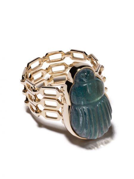 Żółty złoty pierścionek z diamentem Lito