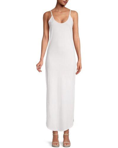 Повседневное белое платье макси без рукавов Eleven Paris