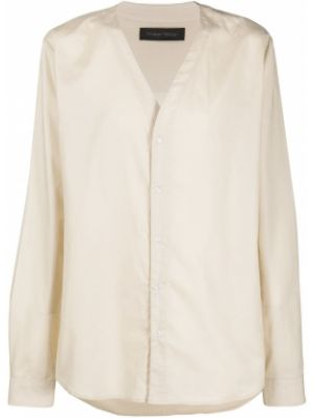 Biała koszula bawełniana z długimi rękawami Christian Pellizzari