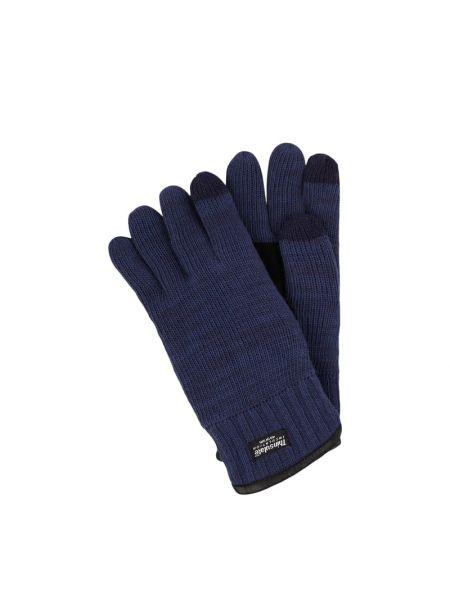 Niebieskie rękawiczki wełniane Eem-fashion