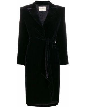 Черное пальто классическое с капюшоном Giorgio Armani Pre-owned