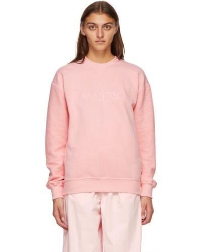 Махровый розовый свитшот с вышивкой с манжетами Jw Anderson