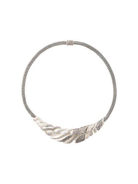 Серебряное ожерелье с бриллиантом John Hardy