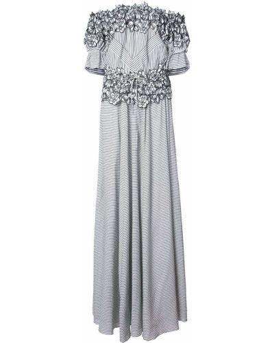 Вечернее платье с цветочным принтом шелковое Zac Zac Posen