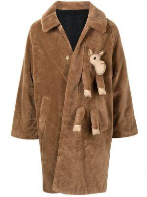 Brązowy długi płaszcz Doublet