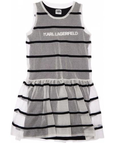Белое платье без рукавов Karl Lagerfeld