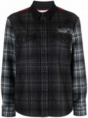 Серая длинная рубашка Woolrich