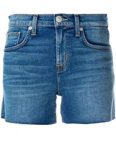 Джинсовые шорты - синие Hudson