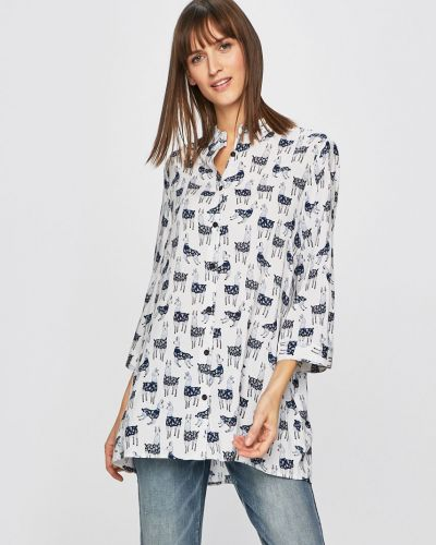 Блузка с длинным рукавом свободного кроя на пуговицах Medicine
