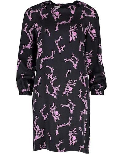 Платье с длинными рукавами - черное Escada