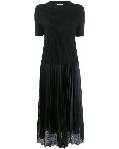 Платье миди плиссированное со складками Moncler