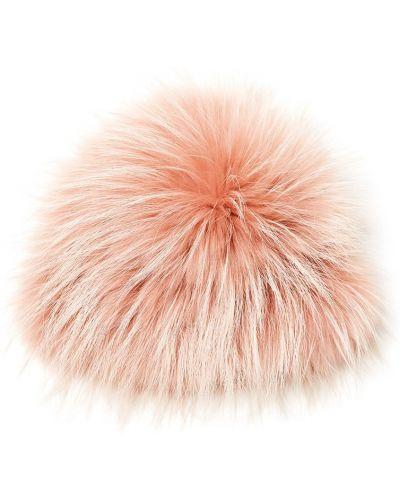 Шапка с мехом розовый вместительный Maison N20