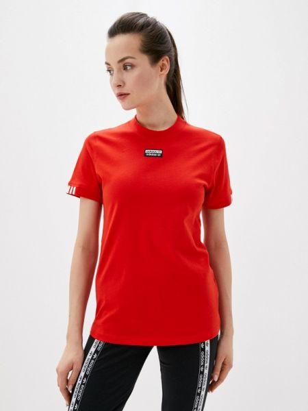 Поло красное футбольный Adidas Originals