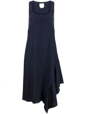 Шелковое синее платье с вырезом Ballantyne