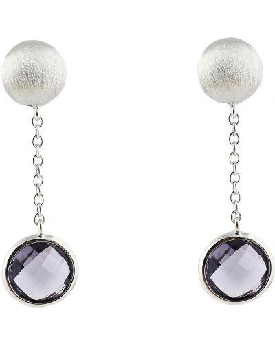 Серебряные серьги с фианитом Jewelry Box