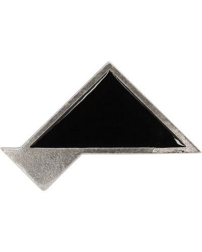 Broszka srebrna - czarna Saint Laurent