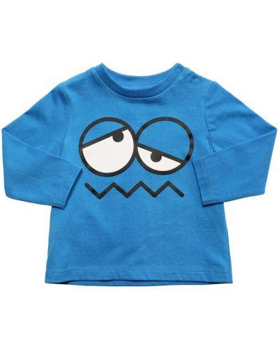 Bawełna z rękawami bawełna niebieski koszula Stella Mccartney Kids