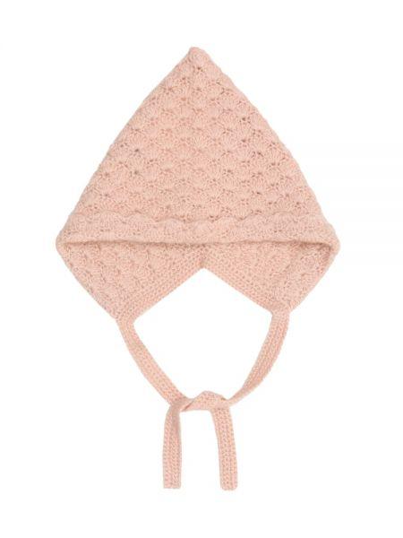 Кашемировая розовая шапка Caramel