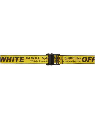 Nylon żółty pasek z paskiem Off-white