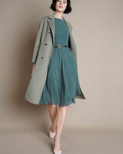 С рукавами зеленое платье мини с поясом Ostin