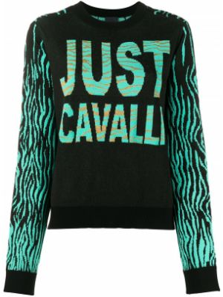 Свитер длинный в рубчик Just Cavalli
