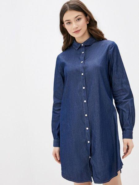 Джинсовое платье синее весеннее Nice & Chic